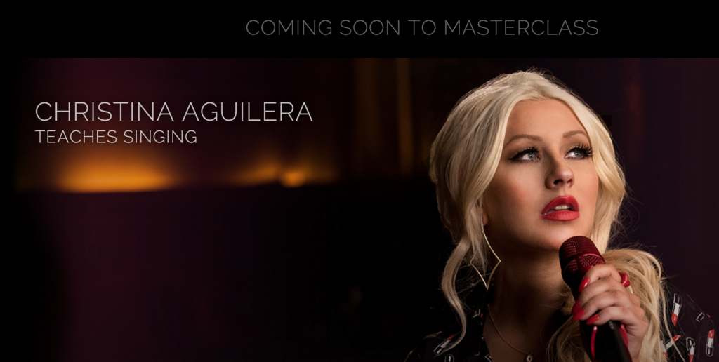 Singing lessons from Christina Aguilera