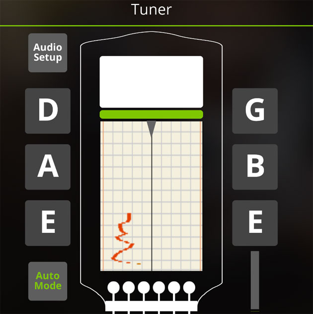 tune your guitar with yousician
