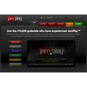 JamPlay homepage screenshot