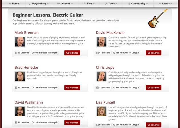 beginner electric guitar lessons