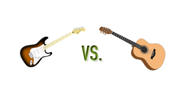 electric vs acoustic guitars
