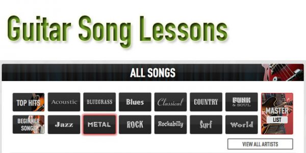 Online guitar song lessons