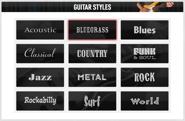 Guitar Styles at Guitar Tricks