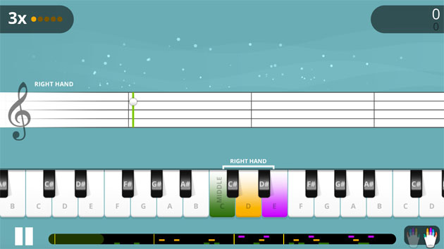 dashboard with Yousician for piano