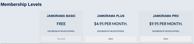 membership prices at Jamorama