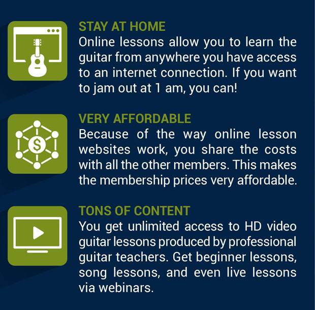 3 benefits of online guitar lessons