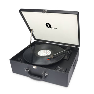 1byone suit case dj turntable