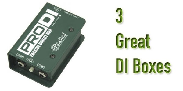 3 of the best direct boxes for electric guitars