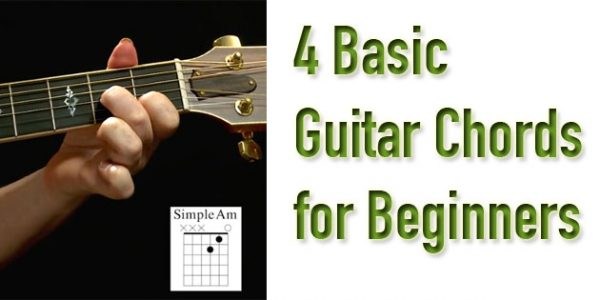 4 Beginner Guitar Chords