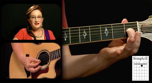 simple e major guitar chord