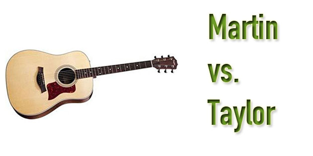 Martin Vs Taylor Acoustic Guitars Full Brand Comparison 2018