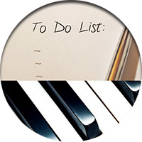 piano to do list