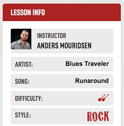 Runaround song lesson at Guitar Tricks