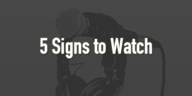 5 signs to watch for with vocal damage