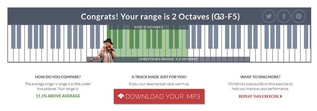 vocal range final results