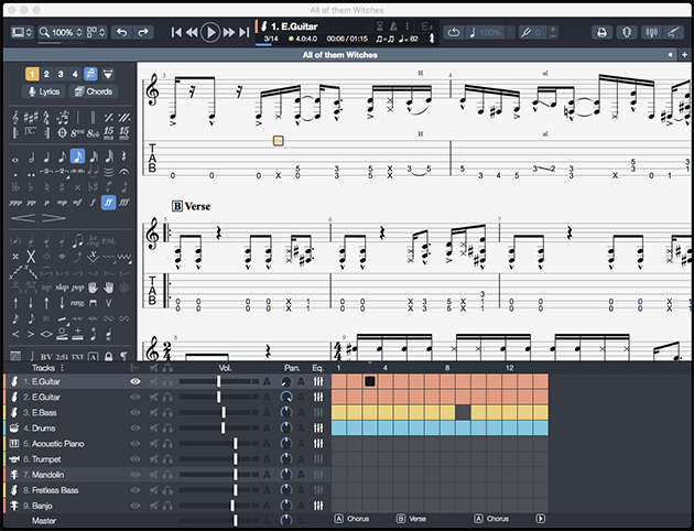guitar pro 7 program screenshot