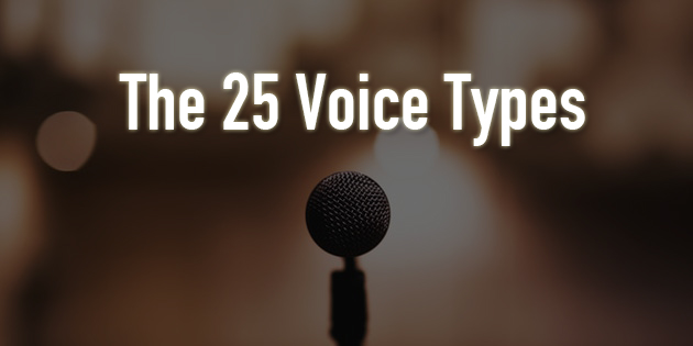 The 25 different voice types