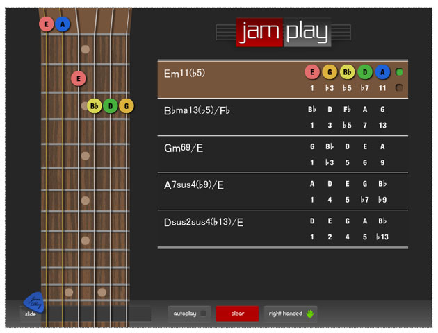 chord namer from JamPlay