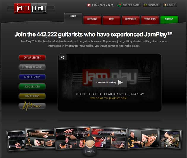 JamPlay Homepage Image
