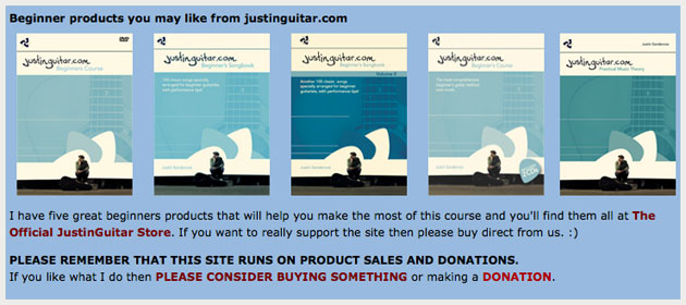 Justing Guitar Beginner Books