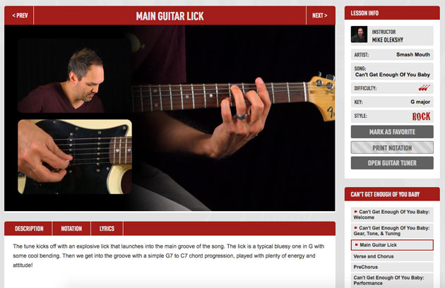 main guitar lick video lesson