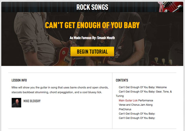 rock guitar song lesson