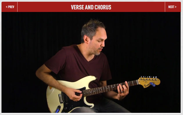 Verse and chorus guitar lesson