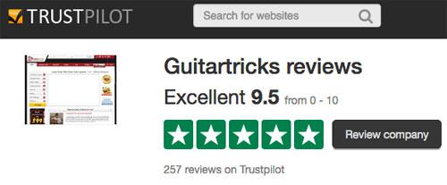 Guitar Tricks reviews on Trust Pilot