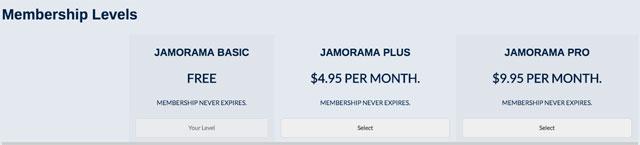 membership prices at Jamorama