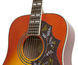 Epiphone hummingbird pro up close
