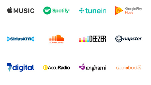 streaming services available with SONOS