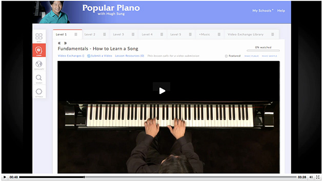 online piano lessons at artistworks