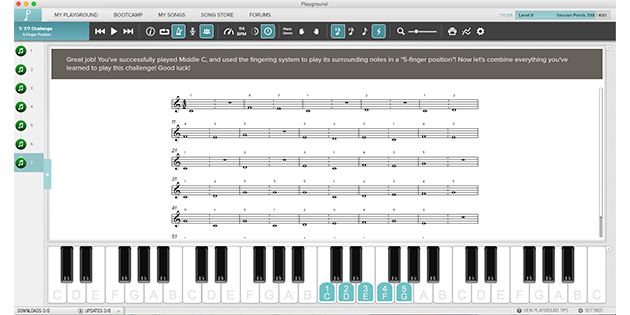Piano sight reading guide