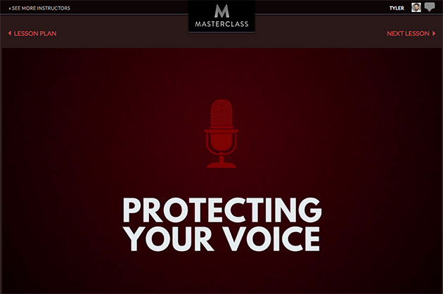 protecting your voice lesson