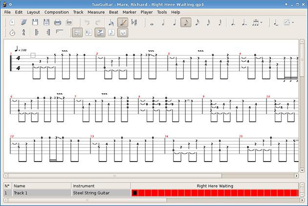 tux guitar screenshot