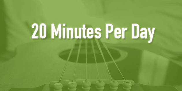 20 minute practice routine for guitar players