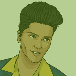 Bruno Mars Cartoon Drawing