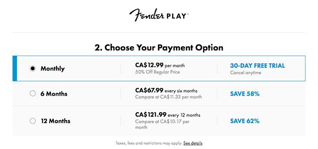 fender play free trial