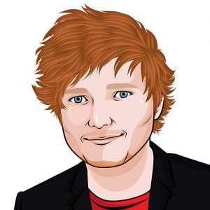 Ed Sheeran cartoon image
